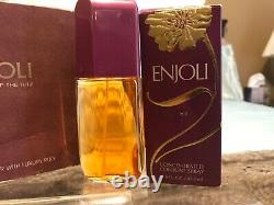 Original Revlon ENJOLI Concentrated Cologne & Perfumed Dusting Powder Duo