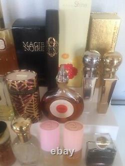Perfume Lot of 40 Womens Perfumes Mini Size partial & some fullDusting Powders