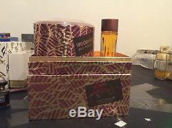 Perfume Vintage Faberge WOODHUE 1.0oz Cologne 30ml Her Dusting Powder 5oz 150gr