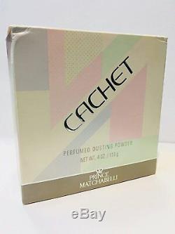 Prince Matchabelli Cachet Perfumed Dusting Powder 4 oz/113g