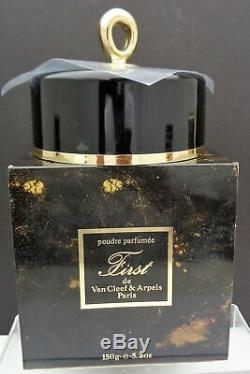 RARE SEALED WITH BOX VAN CLEEF & ARPELS FIRST PERFUMED DUSTING POWDER 5oz