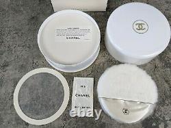 RARE Vintage CHANEL NO 5 Bath Powder Dusting Puff Perfume 8oz withPuff NEW