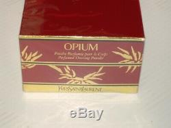 RARE Vintage YSL Yves Saint Laurent OPIUM Perfumed Dusting Powder Original 5.2oz
