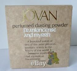 RARE Vtg Jovan Frankincense & Myrrh 5 Oz Perfumed Dusting Powder Sealed NOS