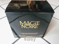 RARE Vtg Lancome Magie Noire Perfumed DUSTING POWDER 6 oz. IN BOX, SEALED
