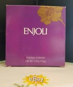 REVLON ENJOLI Perfume Dusting Powder 3 oz Body Powder Boxed Made in the USA