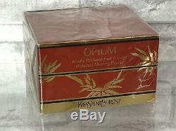 Rare NIB Yves Saint Laurent Opium Perfumed Dusting Powder 5.2 oz 150 g Seal Auth