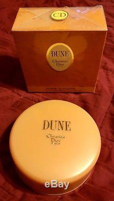 Rare, New, CHRISTIAN DIOR Discontinued DUNE Perfumed Dusting Body Powder, Huge S