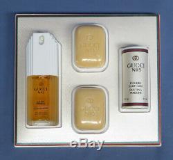 Rare Vintage Gucci No 3 Perfume, Soap, Dusting Powder Set MIB