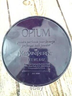 Rare Vintage YSL Opium Perfumed Bath Body Dusting Powder 6 oz New Sealed Puff