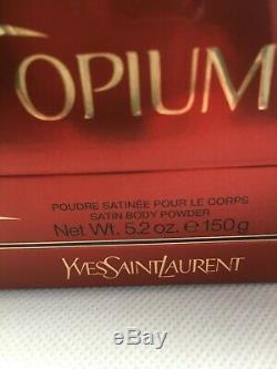 Rare Vintage YSL Opium Perfumed Bath/Dusting Powder 5.2 oz 150g New and Full