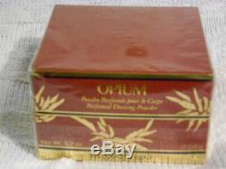 Rare Vintage YSL Opium Perfumed Bath/Dusting Powder 5.2 oz. New and sealed