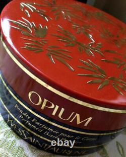 Rare YSL OPIUM Perfumed Dusting Body Powder Talc 120g New Sealed Tub Marked Box