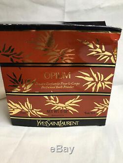 Rare Ysl Opium Perfumed Bath Dusting Powder 6 Oz. Sealed Vintage New