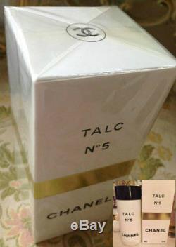 SEALED BEYOND RARE 100g CHANEL No 5 VINTAGE PERFUMED TALCUM TALC DUSTING POWDER
