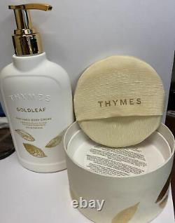 Thymes Goldleaf Perfumed Dusting Powder & Perfumed Body Creme
