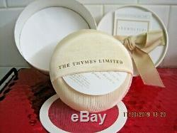 Thymes Limited Vintage Filigree Perfumed Dusting Powder New +sifter+puff Rare