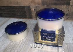 Two (2) Shalimar Guerlain Perfume Dusting Powder 125g PRE OWNED Read Description