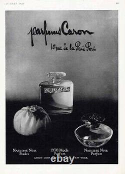 VINTAGE 1934 Caron Fleurs de Rocaille Dusting Powder Sealed in Original Box