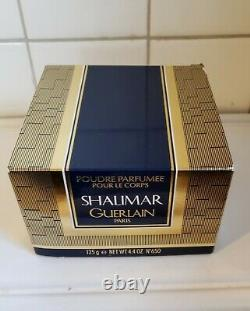 VINTAGE NEW GUERLAIN SHALIMAR PERFUMED DUSTING POWDER (4.4 oz) SEALED