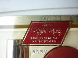 VTG AVIANCE NIGHT MUSK PRINCE MATCHABELLI PERFUME COLOGNE SPRAY & Dusting Powder
