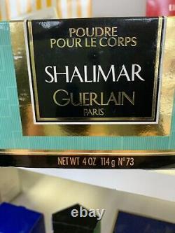 VTG GUERLAIN PARIS SHALIMAR NEW & SEALED W BOX Dusting powder 4 fl oz RARE