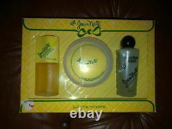 VTG Jean Nate Gift Boxed Set 4 Oz Dusting Powder 5 Oz After Bath Splash Set Of 3