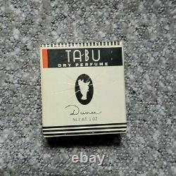 Very Rare Vintage Tabu By Dana Dry Perfume Dusting Bath Body Powder New Lljvtg