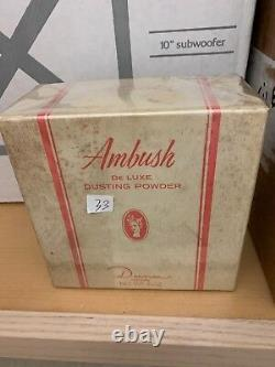 Vintage Ambush Dusting Powder Dana Perfumed 8 Oz 240g De Luxe Original Au
