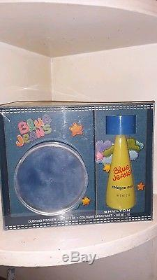 Vintage Blue Jeans By Shulton Gift Set Dusting Powder/Cologne Spray 1970's