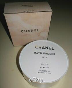 Vintage CHANEL NO 5 BATH POWDER 8 oz 227g ORIGINAL Perfumed Dusting