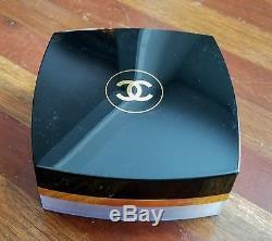 Vintage CHANEL No 5 Classic Black Gold Bath Fragrance Dusting Powder
