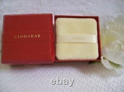 Vintage CINNABAR Estee Lauder Perfumed Dusting Powder Puff 3 oz Sealed New