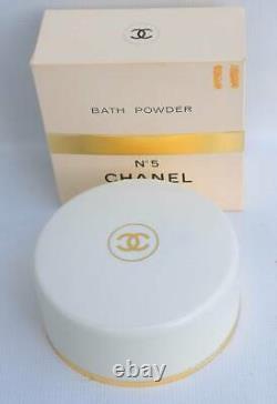 Vintage Chanel No. 5 Bath Dusting Powder 8 oz Full Unused Paper Seal