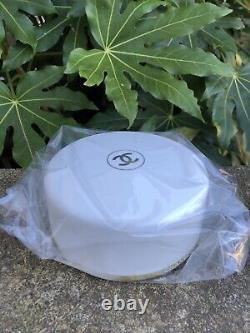 Vintage Chanel No 5 Bath Powder Dusting Puff Perfumed 8 oz withPuffer 90% FULL