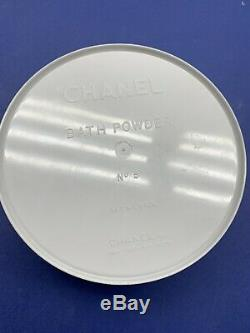 Vintage Chanel No. 5 Perfumed Dusting Bath Powder 8oz Container with Puff