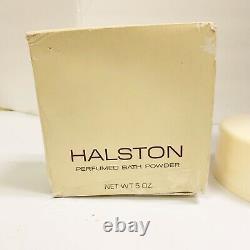 Vintage Halston Body Bath Dusting Powder NEW 5 oz Perfumed New Damaged Box