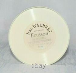 Vintage Jean D'Albret ECUSSON Perfumed Dusting Powder 4 oz, No Box, SEALED, NEW
