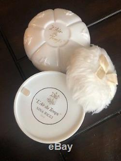 Vintage L'AIR DU TEMPS Dusting Perfume NINA RICCI Powder Box UNOPENED