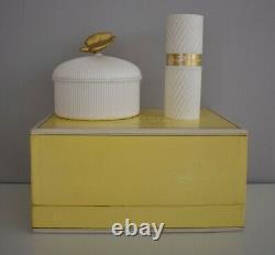 Vintage L'Air Du Temps Gift Set Sealed 6 oz Dusting Powder & 2 oz Spray Perfum