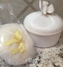 Vintage L'Air Du Temps Perfumed Dusting Powder In White Dove Box Nina Ricci 6 Oz