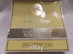 Vintage L'air Du Temps By Nina Ricci DUSTING BODY POWDER 7 oz, Rare, HTF, NIB