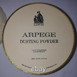 Vintage Lanvin Arpege Perfume Dusting Powder Original Box 8.25 oz