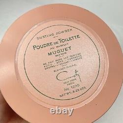Vintage Muguet Des Bois Dusting Powder 5.25 Oz Coty New York Poudre De Toilette