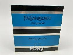 Vintage New YSL Rive Gauche Yves Saint Laurent Perfume Dusting Powder 6oz