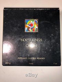 Vintage Nocturnes de Caron Perfumed Dusting Powder 200g made in France DP