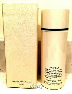 Vintage Obsession Body Talc 3.5 oz Calvin Klein women's fragrance dusting powder