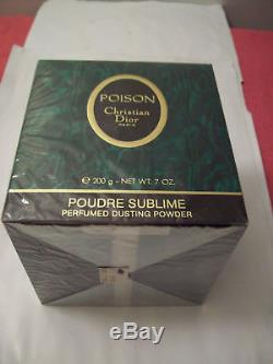 Vintage Perfumed Dusting Powder Poison Christian Dior 7 oz/200g new, sealed, women