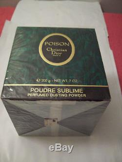 Vintage Perfumed Dusting Powder Poison Christian Dior Year 1989 new, sealed, women