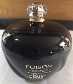 Vintage Poison Christian Dior Perfumed Dusting Powder 7 Oz Sealed No Box